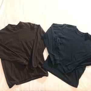 Small Long Sleeve Shirt Bundle Brown & Black